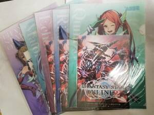 SEGA ラッキー くじ G賞 ファンタシースター オンライン 2 クリアファイル 全 5種 PSO Phantasy Star Online pockets plastic file folder