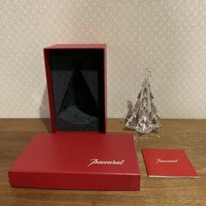 レア 新品 未使用 バカラ 星付き クリスマスツリー クリスタル ガラス オーナメント ディスプレイ オブジェ インテリア 置物 人気 送料無料