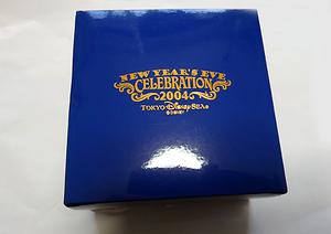即決 送料込み 東京ディズニーシー 2004年カウントダウン ニューイヤーズイブセレブレーション 記念品 置時計 TDS TDL TDR