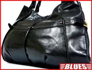 即決★KAROSSE★レザーハンドバッグ カロッセ メンズ 黒 ブラック 本革 トートバッグ 本皮 かばん 鞄 レディース 手提げカバン