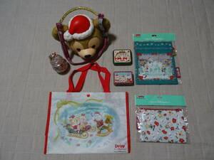 東京ディズニーシー クリスマス ダッフィーのお顔のポップコーンバケット ダッフィー シェリー メイジェラトーニ 巾着袋 ポーチ 新品