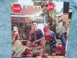 パク ボゴム★コカ コーラ 公式 ポスター 5枚★韓国★非売品★パクボゴム PARK BOGUM POSTER COCA COLA
