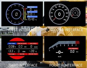 OBD2 un- necessary!!LCD multi meter Speed, octopus, boost, water temperature, oil pressure, oil temperature, exhaust temperature etc. 18 function,AE86 4AG SW20 AW11 ST205 ZZT231 JZX100 including carriage