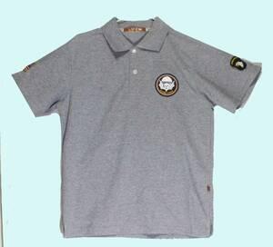ポロシャツ・WW2・米軍・ミリタリーデザイン・「第101空挺師団/ストライク・フォース/グレー」サイズM