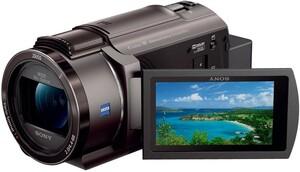 中古 美品 SONY FDR-AX45 ブラウン ビデオカメラ カメラ 4K 人気 ビデオ