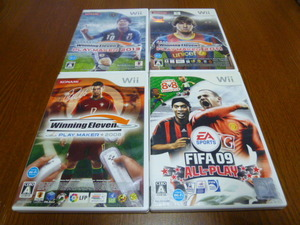 J17【送料無料】Wii ソフト セット ウイニングイレブン 2008 2011 2013 FIFA 09 ALL-PLAY(クリーニング 動作確認済)まとめ