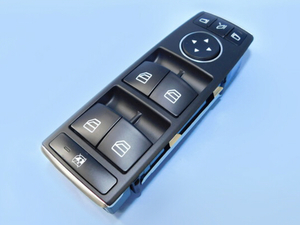 ベンツ W204 W207 W212 X204 パワーウィンドウスイッチ フロント 左ハンドル 運転席側 C180 C320 E350 E500 GLK350 他 2128208310 未使用