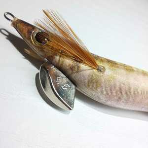 YAMASHITA(ヤマシタ) エギ王Qライブ 3.5号 ナチュラルカラー 金テープ アジ No.1276 egi squid