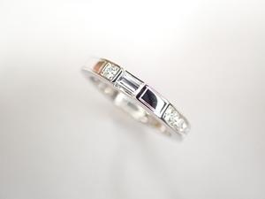 美品 ハリーウィンストン Pt950 ダイヤ8Pトラフィック アクセント バンド リング 指輪