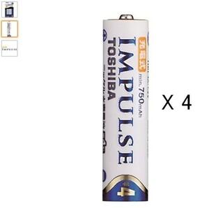 TOSHIBA TNH-4A 4P RECHARGABLE BATTERY SIZE4 (min.750mAh) X 4