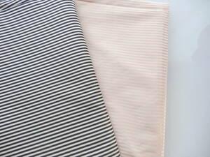 ボーダー柄 黒 ピンク 2色セット 高級生地 織生地 ハンドメイド 小物製作
