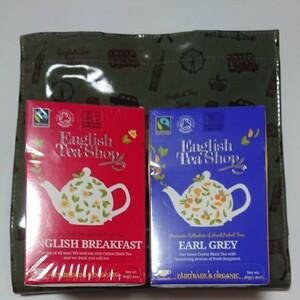 イングリッシュティーショップ 紅茶&オリジナルバッグセット カーキ