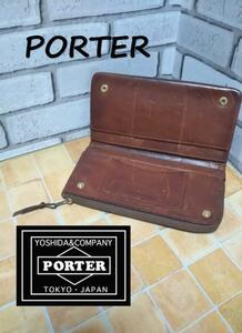 ポーター PORTER レザー長財布 SS1258