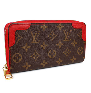 LOUIS VUITTON ルイヴィトン 長財布 ジッピー ウォレット レティーロ モノグラム ラウンドファスナー 財布 赤 レッド スリーズ M61854