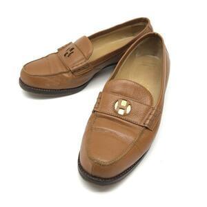 HERMES エルメス モカシン セリエ ローファー 35 1/2(22.5cm) ブラウン 茶色 レディース 靴 スニーカー パンプス ブランド 管理RY20003946