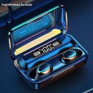 ワイヤレス イヤホン 黒 送料無料 新品 ヘッドセット ハンズフリー Bluetooth 防水 イヤフォン モバイルバッテリー 電話 通話
