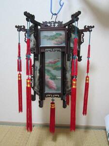 китайский шестиугольник фонарь стекло из дерева China Taiwan складной возможно фонарь дисплей китайская кухня магазин Event