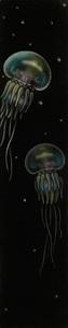仙北谷和子「海月」銅版画 カラーメゾチント 額装 くらげ