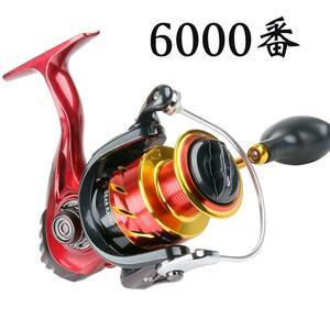 YU89 スピニングリール 6000番 釣りリール リール 軽量 最大ドラグ力12.5kg 遠投 海水 淡水 両用 左右交換ハンドル交換可能 左巻き 右巻き