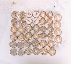 ◆パールmixカボション◆026番 ハンドメイドパーツ ボタン足なし♪
