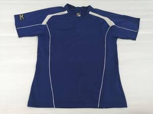 ミズノ 半袖ドライTシャツ mizuno ロゴボタン メッシュ切り替え  スポーツウェア トレーニングウェア 石瀬2852