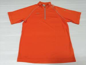 ナイキ 半袖ドライジップアップシャツ NIKE メッシュ切り替え  スポーツウェア トレーニングウェア 石瀬2872