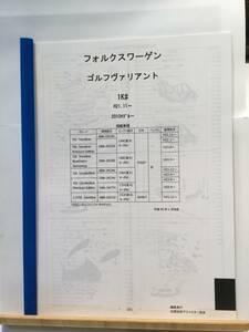 フォルクスワーゲン ゴルフヴァリアント(1K#)H21.11~(2010モデル~) パーツガイド'20  部品価格 料金 見積り