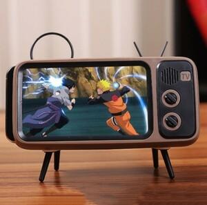 h1711 ポータブルミニワイヤレスステレオブラケット Bluetooth スピーカーテレビ音楽プレイヤーレトロポケット