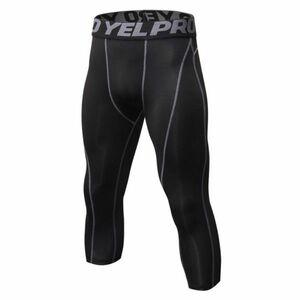 送料無料 新品 ランニングウェア 七分丈 タイツ メンズ Mサイズ グレー パンツ トレーニング スポーツ アウトドア 加圧 スパッツ 1051