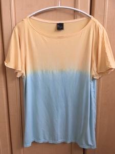 ルーパ Loopa ヨガウェア トップス Tシャツ フレンチスリーブ グラデーション オレンジ/水色M