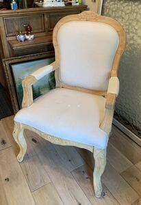 ★ 送料無料 木製 イタリア アンティーク レトロ 調 リビング シングル アームチェア チェア 椅子 イス 店舗 什器 インテリア IA357