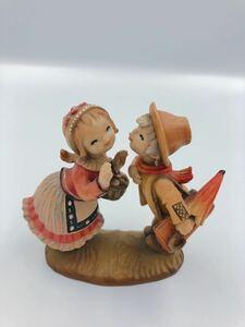 イタリア◆アンリ◆ANRI◆木彫り 人形 Juan Ferrandiz ホアン・フェランディス「STOLEN KISS 」