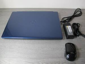 未使用近い FUJITSU LIFEBOOK AH58/D3 Core i7-8565U/ 16GB/ SSD512GB/ 15.6FHD Blu-ray / WIN10/ マウス付き