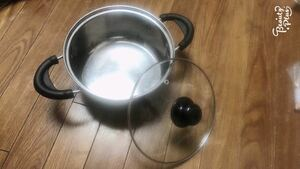 両手鍋、蓋付き 19cm 美品