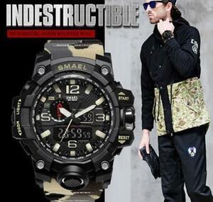 ■2020新品!■ ダイバーズウォッチ 砂漠迷彩上2 メンズ レディース 腕時計