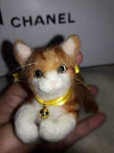 羊毛フェルト ハンドメイド 三毛猫