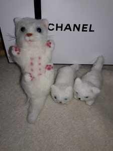 羊毛フェルト 親子セット 猫