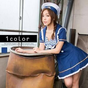 【コスプレ衣装】マリン 水平【ワンピースと帽子の2点セット】