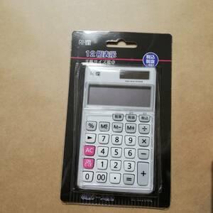 電卓 SL-5220WL 未使用未開封 RI-in 12桁 12桁表示 事務用品 計算 電卓 手帳サイズ電卓 税込 税抜