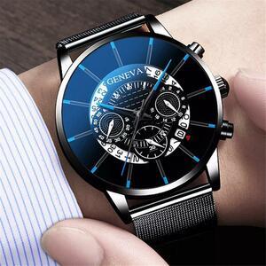 2020 高級超薄型防水男性のカレンダーの時計ステンレス鋼アンチブルーライト腕時計メンズ腕時計リロイ hombre