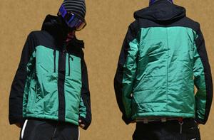 ■高級国産ブランド■NEON ELEMENTS■スノーボード ウェア ジャケット■緑■新品・タグ付き■Sサイズ