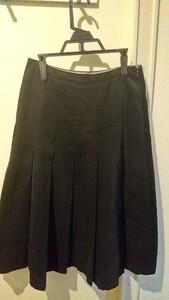 プリーツスカート フレアスカート ロングスカート 黒