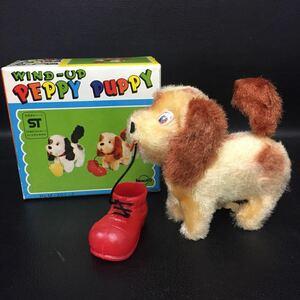 подлинная вещь retro ALPS Alps PEPPY PUPPY сделано в Японии игрушка WIND-UP