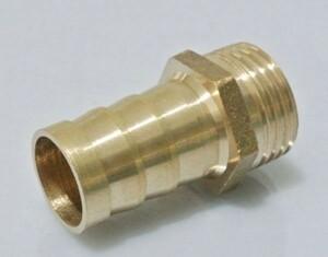 井戸 手押しポンプ用 ホース接続金具 本体とホース接続用 真鍮製 ガーデニング