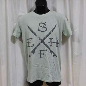 エドハーディー ED HARDY メンズ半袖Tシャツ グリーン Mサイズ M02SUR179 新品