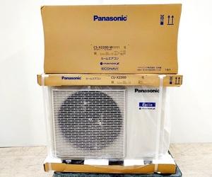 徳山)新品未使用 Panasonic Eolia ルームエアコン CS-X220D CU-X220D 6畳用 2020年モデル Xシリーズ 0706 E201026J01A GK26B