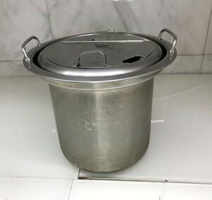 ■M□業務用 スープジャー 鍋 内釜 内鍋 直径約30.5cm 高さ約26cm 蓋付 中古 TH-CU080 象印 蓋の取っ手部分に変形有 □T-2010243■