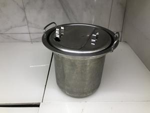 ■M□業務用 スープジャー 鍋 内釜 内鍋 直径約30.5cm 高さ約26cm 蓋付 中古 TH-CU080 象印□T-2010191■