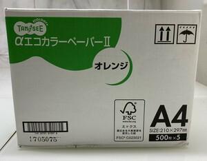 ☆M☆ TANOSEE aエコカラーペーパー オレンジ A4 2500枚 カラーペーパー オフィス用品 ☆M-13☆