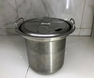 ■M□業務用 スープジャー 鍋 内釜 内鍋 直径約30.5cm 高さ約26cm 蓋付 中古 TH-CU080 象印□T-2010241■